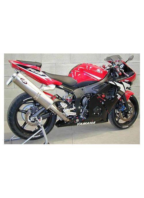 G&G Highmount uitlaat Yamaha R6 2003-2004
