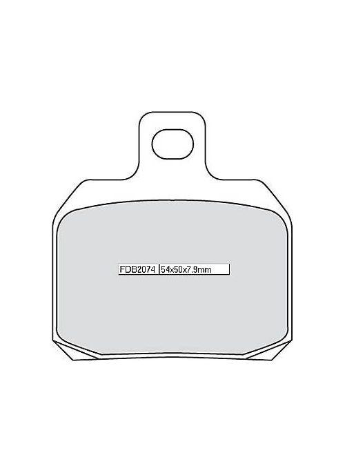 FERODO achterremblokset FDB 2074 P (organisch)