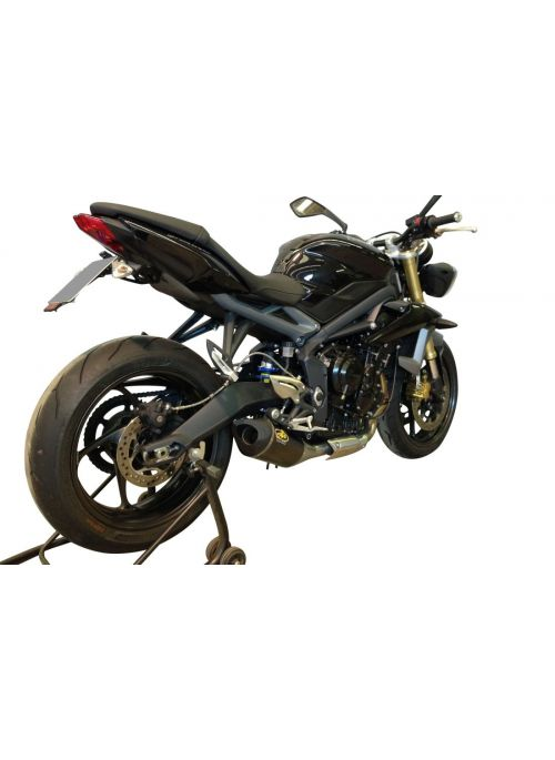 G&G Big Oval exhaust Triumph Daytona 675 2013-2015