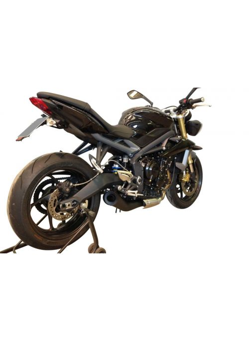 G&G GP Black exhaust Triumph Daytona 675 2013-2015