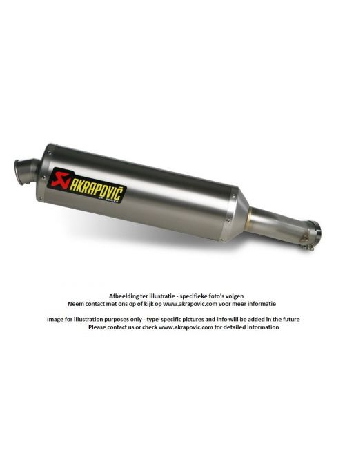 Akrapovic Titanium exhaust SP Series CBF 600 2004-2007 homologated