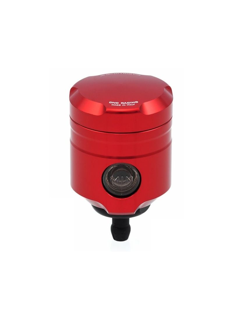 CNC Racing brake fluid reservoir red - straight outlet