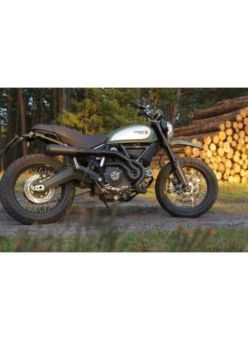 QD uitlaatsysteem 'Dark' Ducati Scrambler