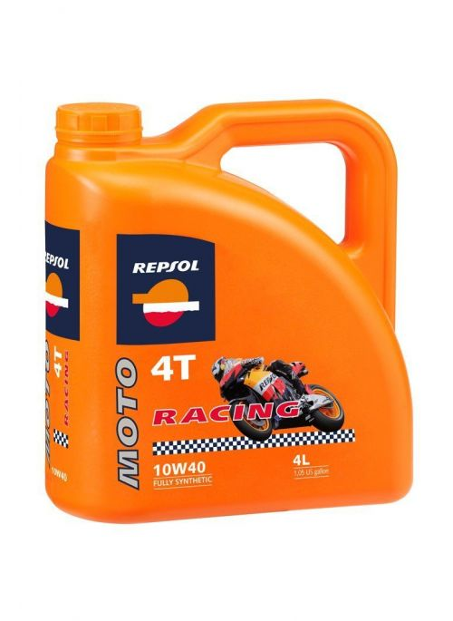Repsol 4T olie Moto Racing 10W40- olie vol synthetisch - 4L