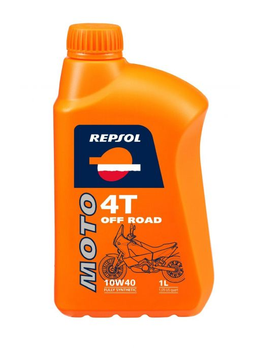 Repsol 4T olie Moto Off Road 10W40- olie vol synthetisch - 1L