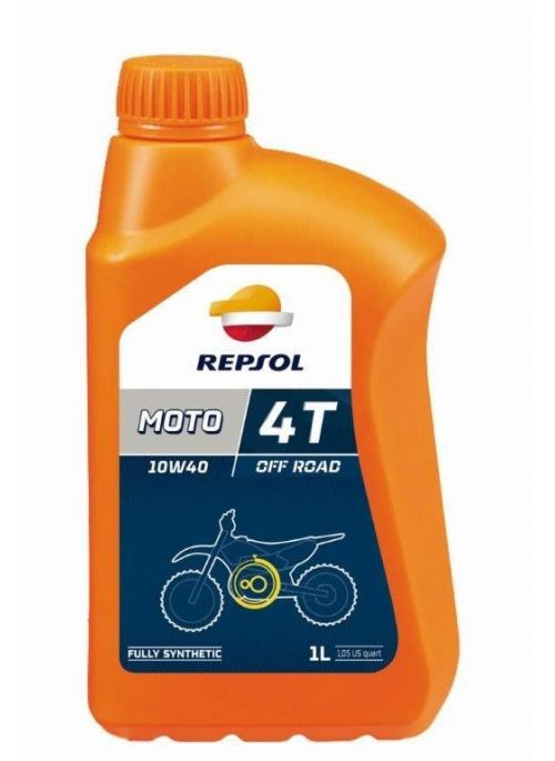 Repsol 4T olie Moto Off Road 10W40- olie vol synthetisch - 4L