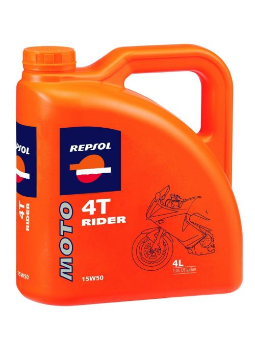 Repsol 4T olie Moto Rider 15W50- olie half synthetisch - 4L