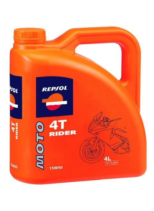 Repsol 4T Moto Rider 15W50 - Mineral Oil - 4L