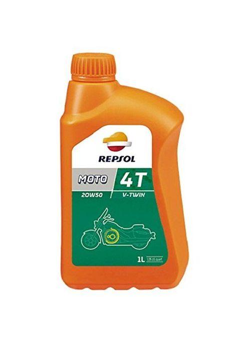 Repsol 4T olie Moto V-Twin 20W50- mineraal met synthetische componenten - 1L