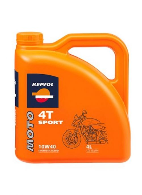 Repsol 4T olie Moto Sport 10W40 - olie half synthetisch - 4L