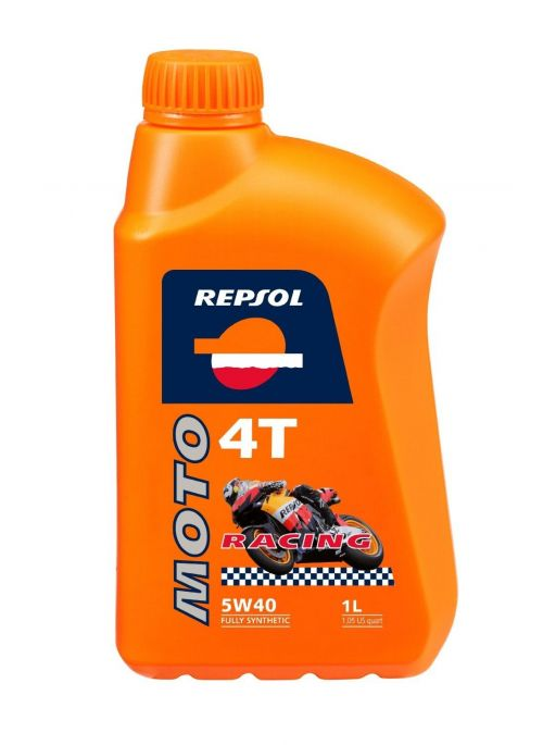 Repsol 4T olie Moto Racing 5W40- olie vol synthetisch - 1L