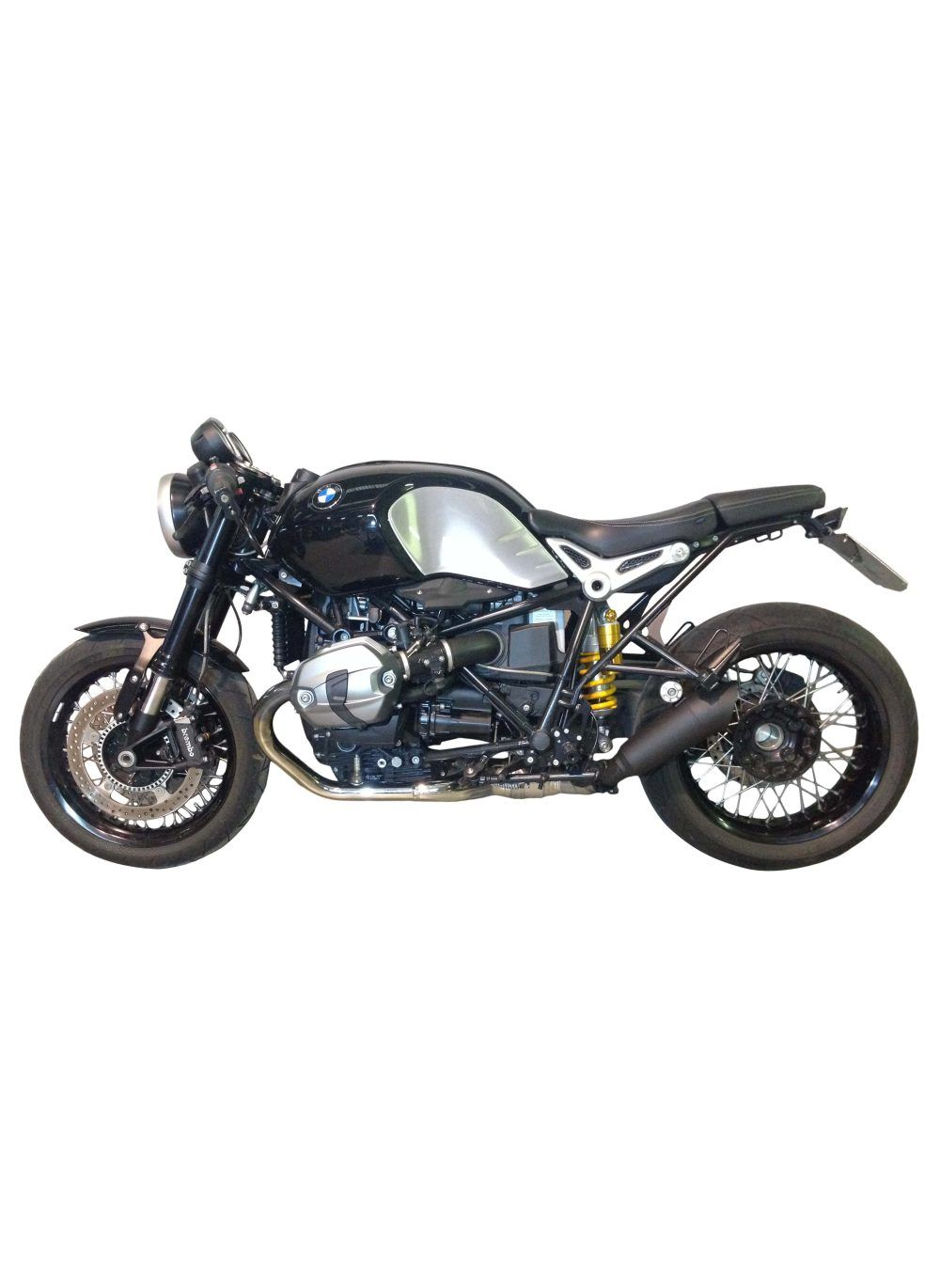 g g gp black exhaust bmw r ninet pure g g shop. Black Bedroom Furniture Sets. Home Design Ideas