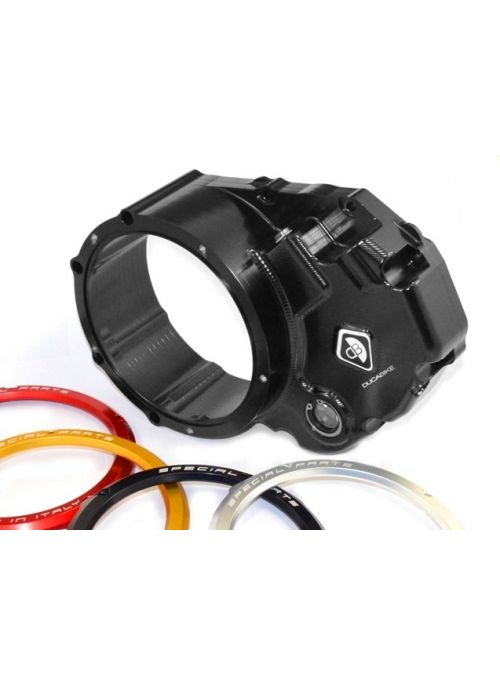 Ducabike clutch cover CCDV03 - black red gold silver