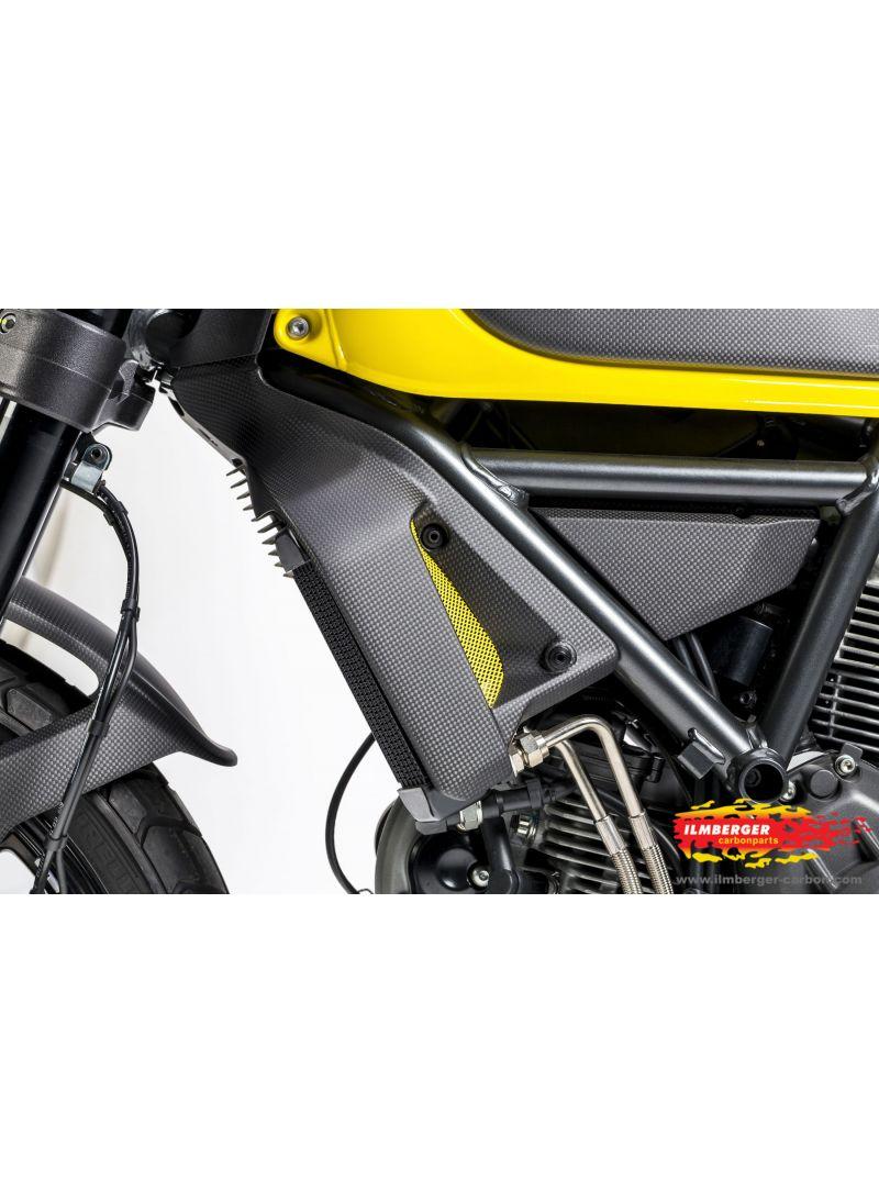 6eebc2acca1 Radiator cover left matt carbon - Ducati Scrambler - G G Shop