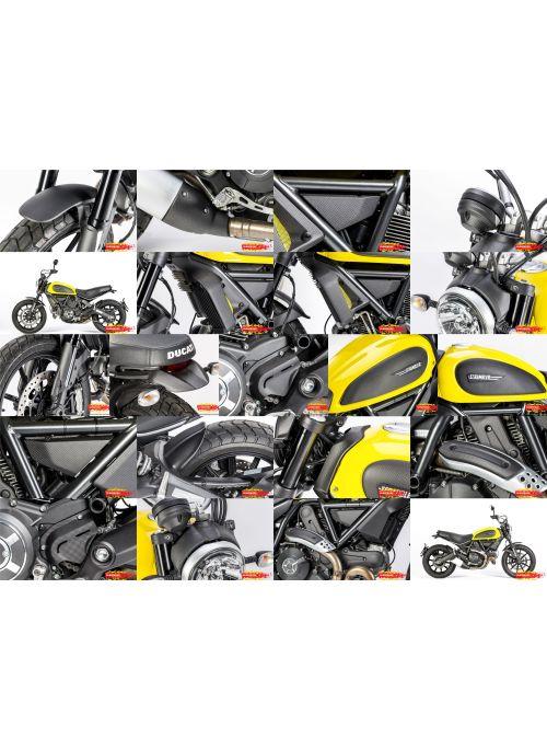 Volledig Voordeel Pakket carbon (mat) - Ducati Scrambler