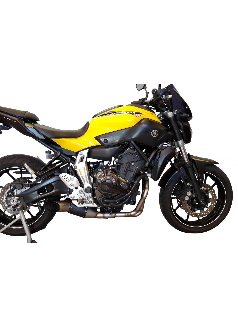 G g gp stealth exhaust system yamaha mt 07 g g shop for Yamaha exhaust systems