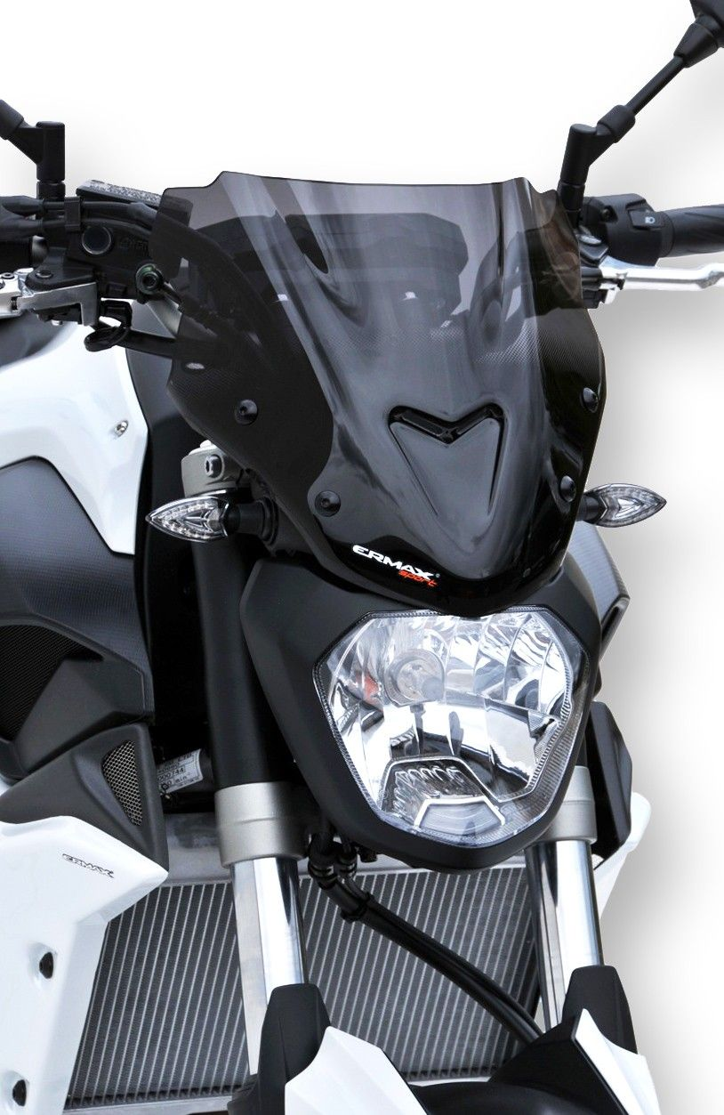 Ermax flyscreen windshield sport 27cm mt 07 2014 2017 incl installation kit g g shop