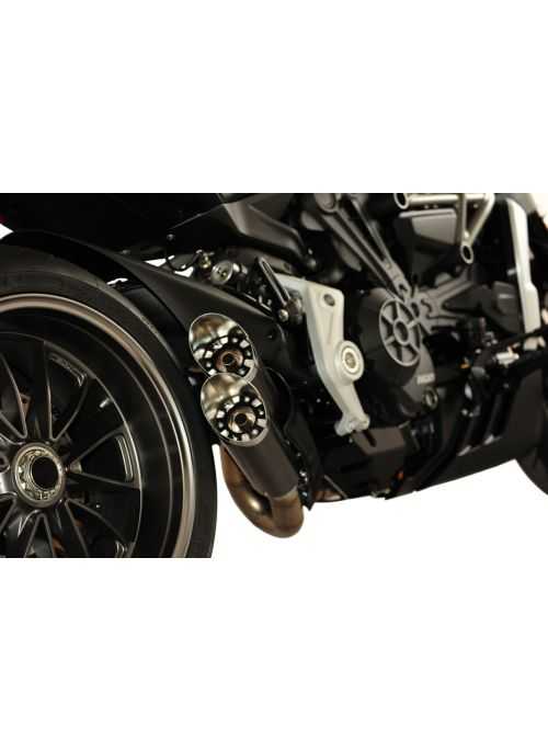 QD Slash-Carbon uitlaat systeem X-Diavel (S)