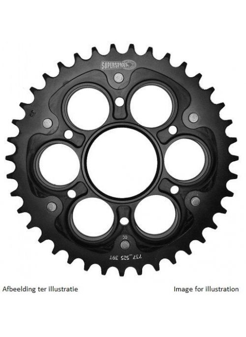 Rear sprocket SuperSprox Stealth RST-755_525 (black) for 525 chain - 42 teeth