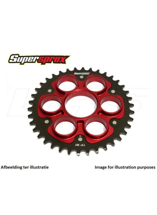 Rear sprocket SuperSprox Stealth RST-755_525 (red) for 525 chain - 43 teeth