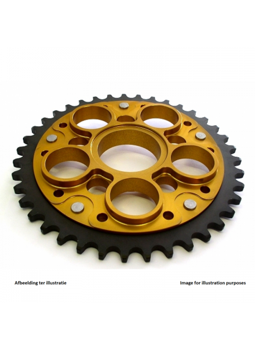 Rear sprocket SuperSprox Stealth RST-755_525 (gold) for 525 chain - 43 teeth