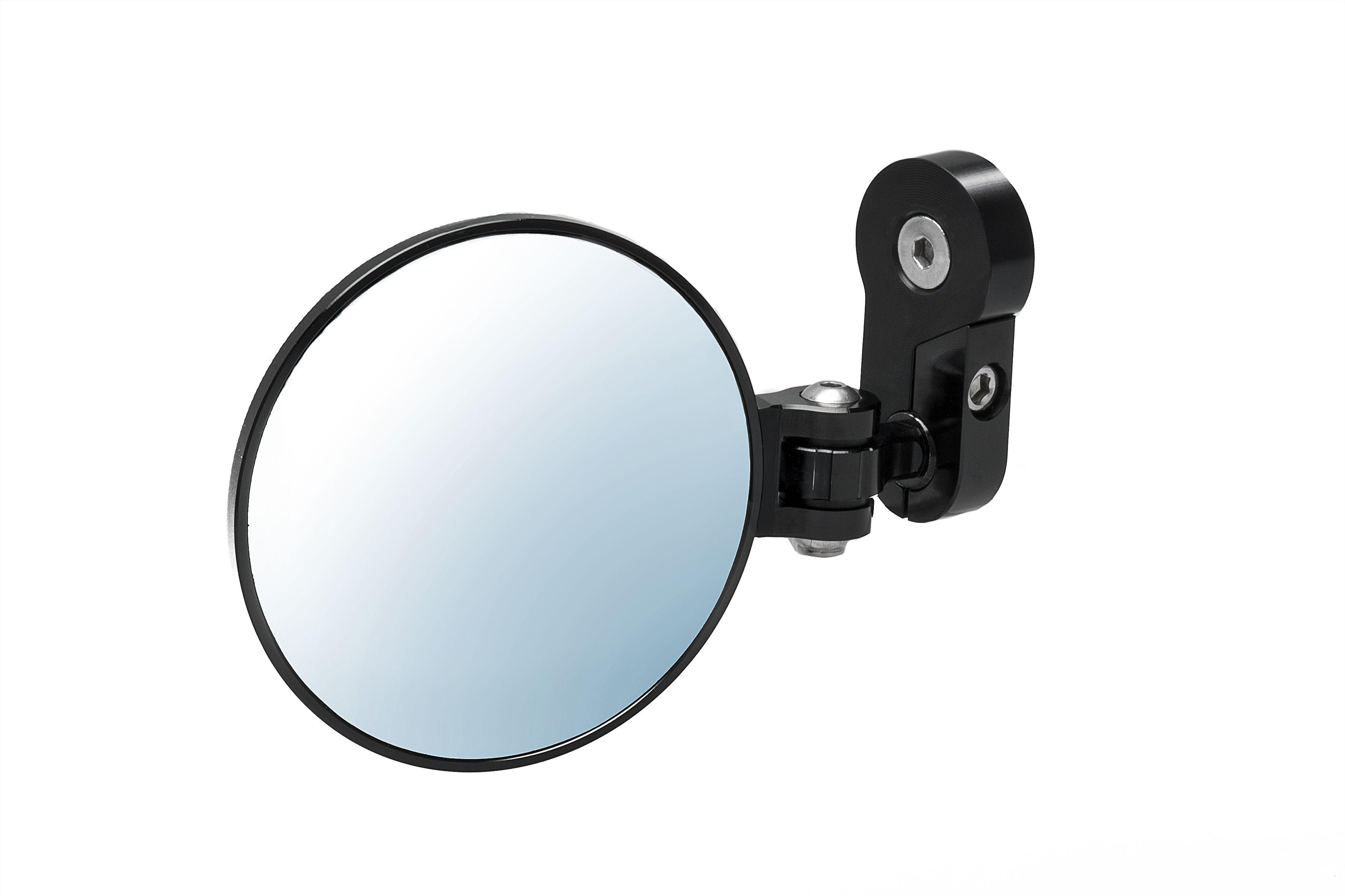 Bar End Spiegels : Bar end spiegel schwarz stahl multi gerichtete flach