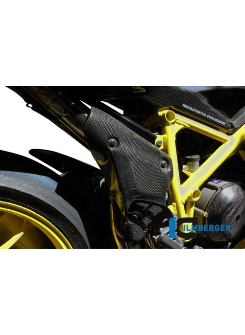 Carbon exhaust header heat shield Ducati 848 / 848EVO