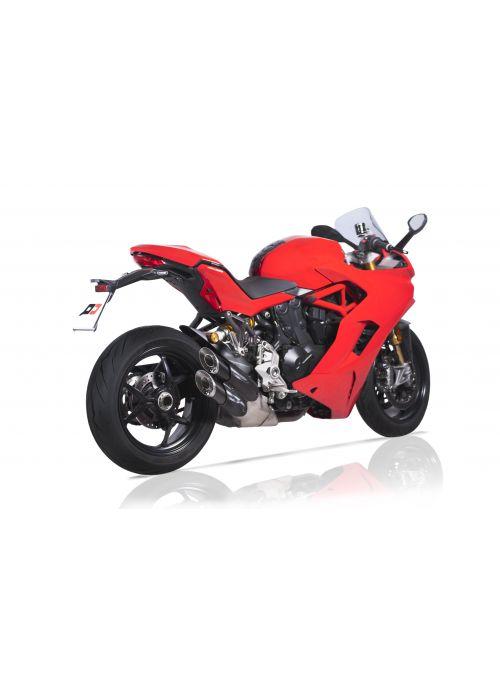 """QD """"Twin-Monkey"""" uitlaat demperset Ducati SuperSport 939 939S - Euro4"""
