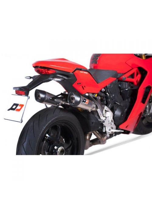 QD GunShot 3/4 systeem uitlaat demperset Ducati SuperSport 939 939S - Euro4