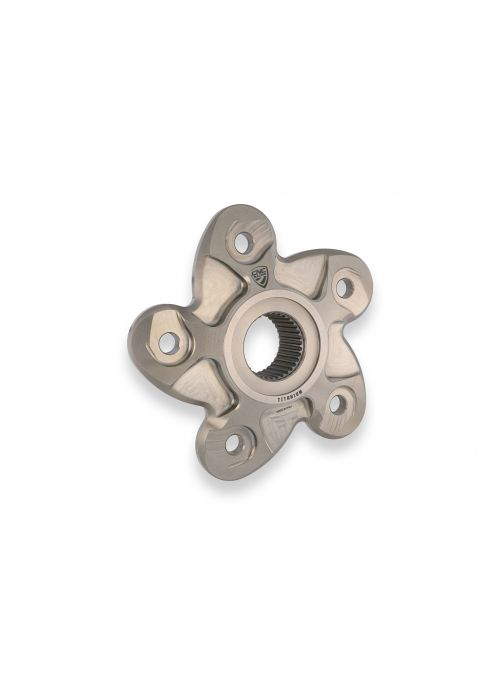 Titanium rear sprocket carrier for 5-nut Ducati models