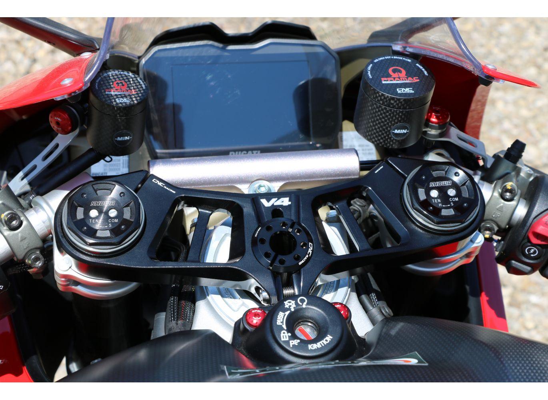 Top Triple Clamp Black Ducati Panigale V4 V4s