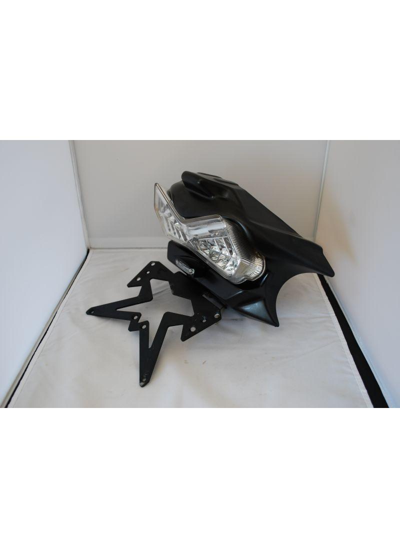 Ermax kentekenplaathouder incl achterlicht GSR600 gebruikt - Satin Black