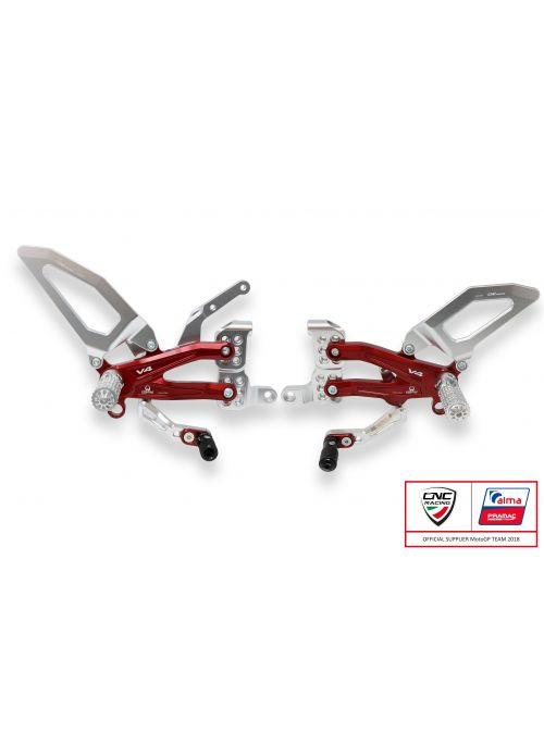 Rearset CNC Racing Pramac Limited Panigale V4 V4S