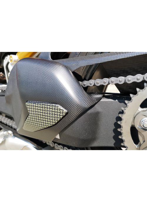 Matt carbon / kevlar swingarm cover Panigale V4 V4S
