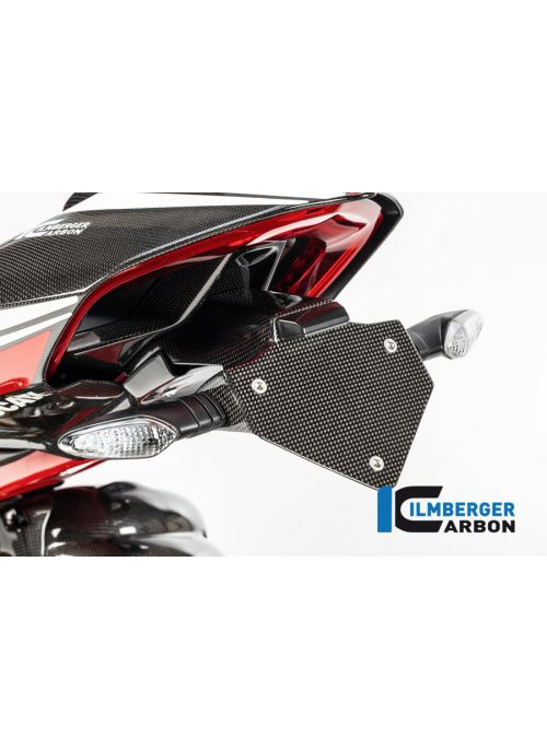 Short Tail Tidy License Plate Support Glossy Carbon Panigale V4 V4S