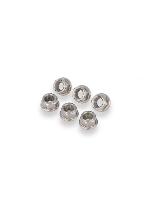 Rear axle nut set titanium