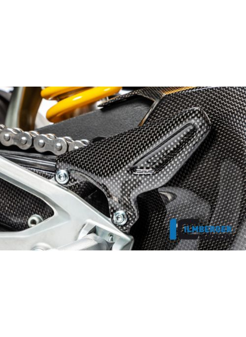 Heelguard links glanzend carbon Panigale V4 / V4 S
