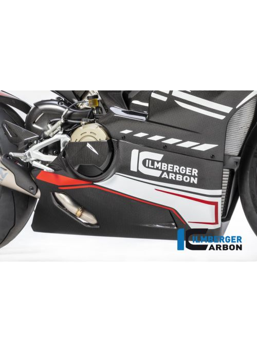 Bellypan (onderkuip) glanzend carbon Panigale V4 Racing