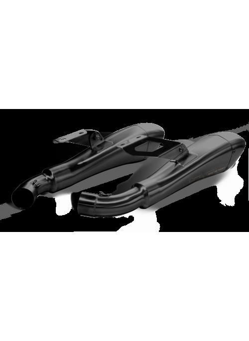 HP Corse Slip-On Exhaust Monster 1100 2008-2014 Hydroform Black