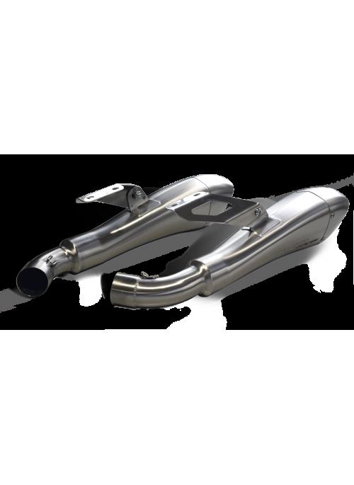 HP Corse Slip-On uitlaat Ducati Monster 1100 2008-2014 Hydroform Satin