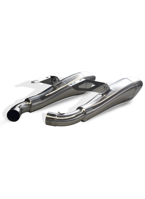 HP Corse Slip-On Exhaust Monster 1100 2008-2014 Hydroform Satin