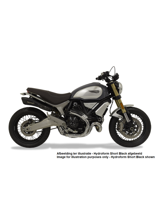 HP Corse Slip-On uitlaat Ducati Scrambler 1100 Hydroform Short Polished