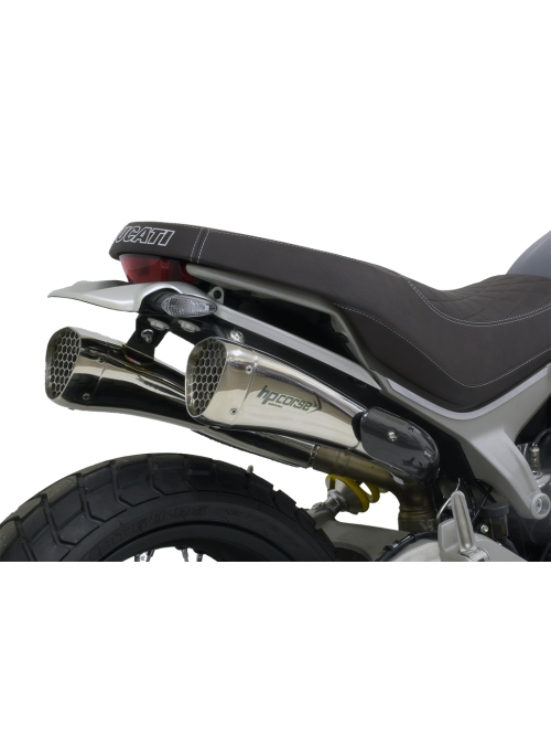 HP Corse Slip-On Exhaust Scrambler 1100 Hydroform-Corsa Short Polished