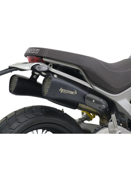 HP Corse Slip-On Exhaust Scrambler 1100 Hydroform-Corsa Short Black