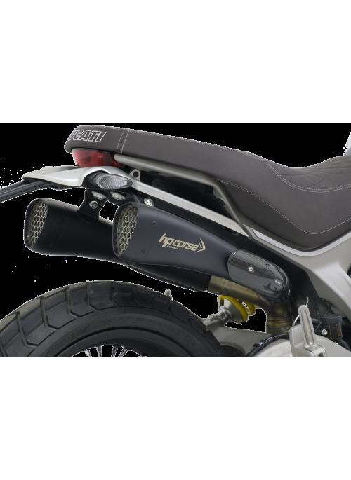 HP Corse Slip-On Exhaust Scrambler 1100 Hydroform-Corsa Short Black