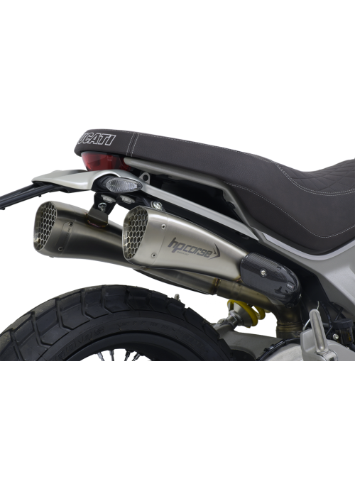 HP Corse Slip-On Exhaust Scrambler 1100 Hydroform-Corsa Short Satin