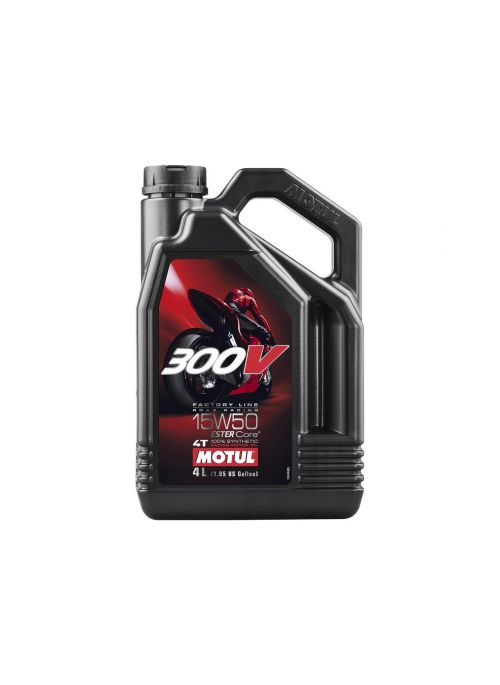MOTUL 300V Factory Line Road Racing Motorolie 4T 15W50 100% Synthetisch 4L