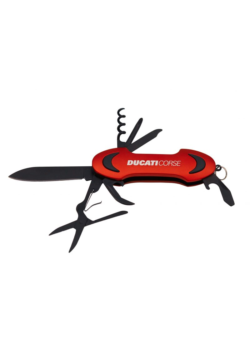 Ducati Corse pocket knife multitool red