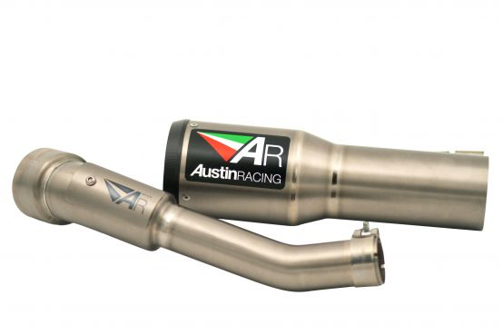 Austin Racing GP1 Highmount exhaust KTM Duke 390 2013-2016 Titanium Black