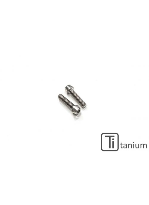 Front sprocket cover screws M6x16 (2 pcs) - Titanium